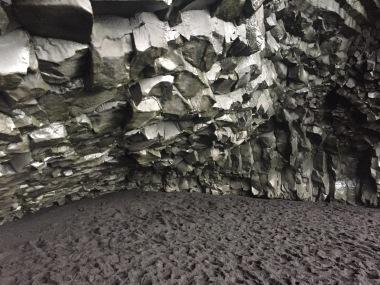 Reynisdrangar - black basalt columns and caves.